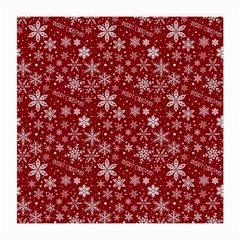 Merry Christmas Pattern Medium Glasses Cloth (2 Side) by Nexatart
