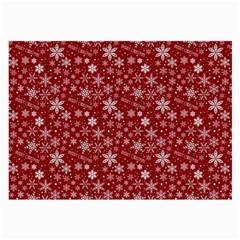 Merry Christmas Pattern Large Glasses Cloth (2 Side) by Nexatart