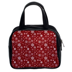 Merry Christmas Pattern Classic Handbags (2 Sides) by Nexatart