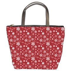 Merry Christmas Pattern Bucket Bags