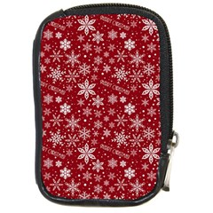 Merry Christmas Pattern Compact Camera Cases by Nexatart