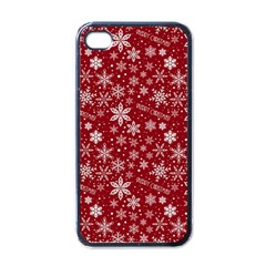 Merry Christmas Pattern Apple Iphone 4 Case (black)