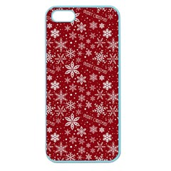 Merry Christmas Pattern Apple Seamless Iphone 5 Case (color) by Nexatart