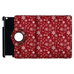 Merry Christmas Pattern Apple Ipad 3/4 Flip 360 Case by Nexatart