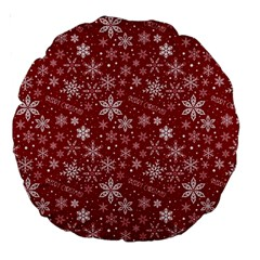 Merry Christmas Pattern Large 18  Premium Round Cushions by Nexatart