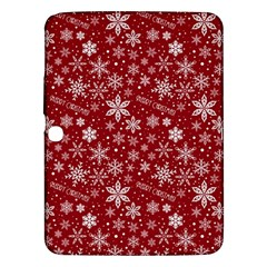 Merry Christmas Pattern Samsung Galaxy Tab 3 (10 1 ) P5200 Hardshell Case  by Nexatart