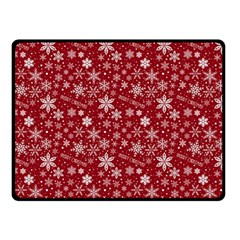 Merry Christmas Pattern Double Sided Fleece Blanket (small)  by Nexatart
