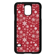 Merry Christmas Pattern Samsung Galaxy S5 Case (black) by Nexatart