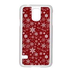 Merry Christmas Pattern Samsung Galaxy S5 Case (white) by Nexatart