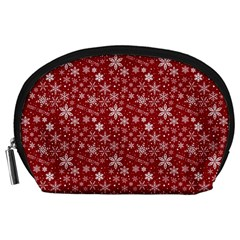 Merry Christmas Pattern Accessory Pouches (large)  by Nexatart
