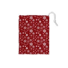 Merry Christmas Pattern Drawstring Pouches (small)  by Nexatart