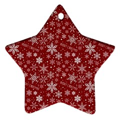 Merry Christmas Pattern Ornament (star)