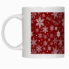 Merry Christmas Pattern White Mugs