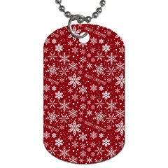 Merry Christmas Pattern Dog Tag (one Side) by Nexatart
