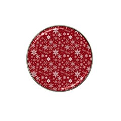 Merry Christmas Pattern Hat Clip Ball Marker (4 Pack) by Nexatart