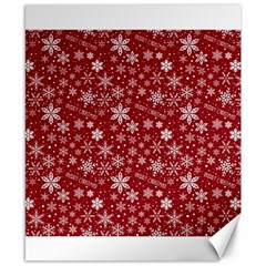 Merry Christmas Pattern Canvas 8  X 10