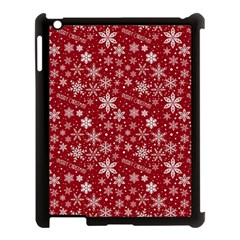 Merry Christmas Pattern Apple Ipad 3/4 Case (black)