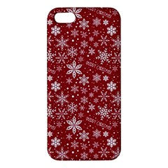 Merry Christmas Pattern Apple Iphone 5 Premium Hardshell Case by Nexatart