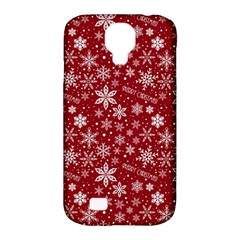 Merry Christmas Pattern Samsung Galaxy S4 Classic Hardshell Case (pc+silicone) by Nexatart