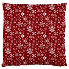 Merry Christmas Pattern Large Flano Cushion Case (one Side) by Nexatart