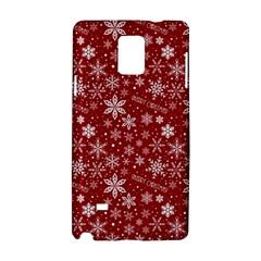 Merry Christmas Pattern Samsung Galaxy Note 4 Hardshell Case by Nexatart