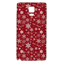 Merry Christmas Pattern Galaxy Note 4 Back Case by Nexatart