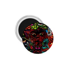 Abstract Psychedelic Face Nightmare Eyes Font Horror Fantasy Artwork 1 75  Magnets by Nexatart