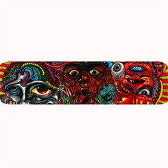 Abstract Psychedelic Face Nightmare Eyes Font Horror Fantasy Artwork Large Bar Mats by Nexatart