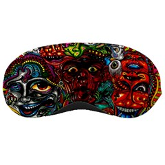 Abstract Psychedelic Face Nightmare Eyes Font Horror Fantasy Artwork Sleeping Masks by Nexatart