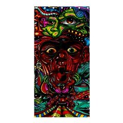 Abstract Psychedelic Face Nightmare Eyes Font Horror Fantasy Artwork Shower Curtain 36  X 72  (stall)  by Nexatart
