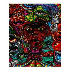 Abstract Psychedelic Face Nightmare Eyes Font Horror Fantasy Artwork Shower Curtain 60  X 72  (medium)  by Nexatart