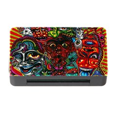 Abstract Psychedelic Face Nightmare Eyes Font Horror Fantasy Artwork Memory Card Reader With Cf by Nexatart