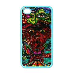 Abstract Psychedelic Face Nightmare Eyes Font Horror Fantasy Artwork Apple Iphone 4 Case (color) by Nexatart