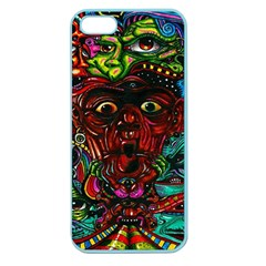 Abstract Psychedelic Face Nightmare Eyes Font Horror Fantasy Artwork Apple Seamless Iphone 5 Case (color)