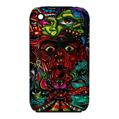 Abstract Psychedelic Face Nightmare Eyes Font Horror Fantasy Artwork Iphone 3s/3gs by Nexatart