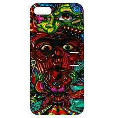 Abstract Psychedelic Face Nightmare Eyes Font Horror Fantasy Artwork Apple Iphone 5 Hardshell Case With Stand by Nexatart