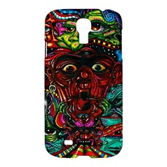 Abstract Psychedelic Face Nightmare Eyes Font Horror Fantasy Artwork Samsung Galaxy S4 I9500/i9505 Hardshell Case by Nexatart