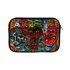 Abstract Psychedelic Face Nightmare Eyes Font Horror Fantasy Artwork Apple Ipad Mini Zipper Cases