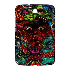 Abstract Psychedelic Face Nightmare Eyes Font Horror Fantasy Artwork Samsung Galaxy Note 8 0 N5100 Hardshell Case