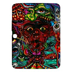 Abstract Psychedelic Face Nightmare Eyes Font Horror Fantasy Artwork Samsung Galaxy Tab 3 (10 1 ) P5200 Hardshell Case