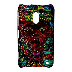 Abstract Psychedelic Face Nightmare Eyes Font Horror Fantasy Artwork Nokia Lumia 620 by Nexatart