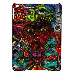 Abstract Psychedelic Face Nightmare Eyes Font Horror Fantasy Artwork Ipad Air Hardshell Cases