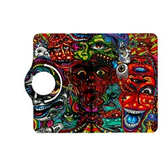 Abstract Psychedelic Face Nightmare Eyes Font Horror Fantasy Artwork Kindle Fire Hd (2013) Flip 360 Case by Nexatart
