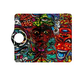 Abstract Psychedelic Face Nightmare Eyes Font Horror Fantasy Artwork Kindle Fire Hdx 8 9  Flip 360 Case by Nexatart