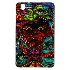 Abstract Psychedelic Face Nightmare Eyes Font Horror Fantasy Artwork Samsung Galaxy Tab Pro 8 4 Hardshell Case by Nexatart