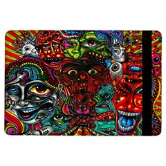 Abstract Psychedelic Face Nightmare Eyes Font Horror Fantasy Artwork Ipad Air Flip