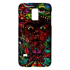 Abstract Psychedelic Face Nightmare Eyes Font Horror Fantasy Artwork Galaxy S5 Mini by Nexatart