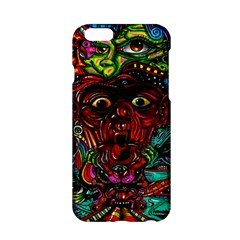 Abstract Psychedelic Face Nightmare Eyes Font Horror Fantasy Artwork Apple Iphone 6/6s Hardshell Case