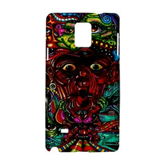 Abstract Psychedelic Face Nightmare Eyes Font Horror Fantasy Artwork Samsung Galaxy Note 4 Hardshell Case