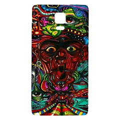 Abstract Psychedelic Face Nightmare Eyes Font Horror Fantasy Artwork Galaxy Note 4 Back Case by Nexatart